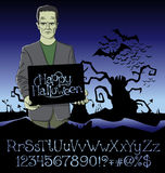 Vector Cartoon Frankenstein Halloween Royalty Free Stock Images