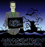 Vector Cartoon Frankenstein Halloween Stock Images