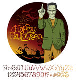 Vector Cartoon Frankenstein Halloween Stock Photography