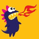 Vector cartoon funny dragon. Cartoon Dinosaur. Royalty Free Stock Images