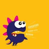 Vector cartoon funny dragon. Cartoon Dinosaur. Stock Photo