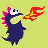 Vector cartoon funny dragon. Cartoon Dinosaur. Stock Images