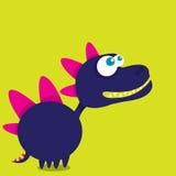 Vector cartoon funny dragon. Cartoon Dinosaur. Royalty Free Stock Photo