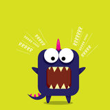 Vector cartoon funny dragon. Cartoon Dinosaur. Stock Image