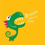 Vector cartoon funny dragon. Cartoon Dinosaur. Royalty Free Stock Image