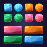 Vector Cartoon Glass Buttons For Game User Stock Photo