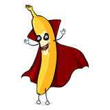 Vector Cartoon Halloween Character - Vampire Banana Royalty Free Stock Photo