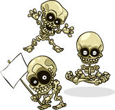 Vector Cartoon Halloween Skeletons