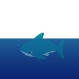 Vector cartoon - Hammerhead Shark  (Sphyrnidae) Royalty Free Stock Photography