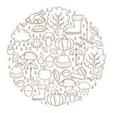 Vector cartoon hand drawn background Royalty Free Stock Photography