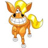 Vector Cartoon happy funny horse stock photo