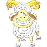 vector Cartoon happy funny ram Royalty Free Stock Photos