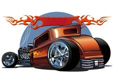 Vector cartoon hotrod Stock Photos