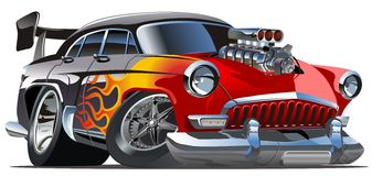 Vector cartoon hotrod Volga-21 stock illustration