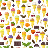 Vector cartoon ice cream background Royalty Free Stock Images