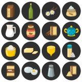Vector cartoon baking ingredients Stock Images