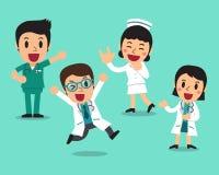 Vector cartoon illustration of character doctors and nurses vector illustration