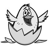 Easter Chick Illustration Royalty Free Stock Photo