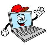 Computer Repair Mascot. A vector cartoon illustration of a Computer Repair Mascot stock illustration