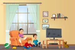 Vector Cartoon Illustration Concept Happy Children royalty free illustration