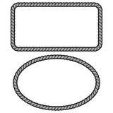 Rope Border Illustration. A vector cartoon illustration of a couple of Rope Border concepts stock illustration
