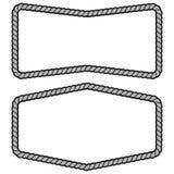 Rope Frame Sign Illustration. A vector cartoon illustration of a couple of Rope Border Frame concept royalty free illustration