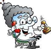 Vector Cartoon illustration of a Cute Grandma Paper Mascot Stock Photo