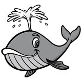 Whale Illustration. A vector cartoon illustration of a cute Whale mascot Stock Photo