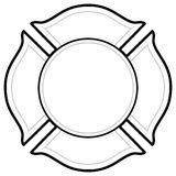Black And White Firefighter Logo. A vector cartoon illustration of a Firefighter Logo concept Royalty Free Stock Photography