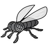 Black and White Fly Mascot. A vector cartoon illustration of a Fly Mascot vector illustration