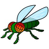 Fly Mascot. A vector cartoon illustration of a Fly Mascot Stock Image