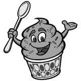 Frozen Yogurt Illustration. A vector cartoon illustration of a Frozen Yogurt mascot Stock Images