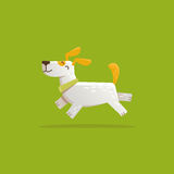 Vector cartoon illustration - funny and friendly dog Royalty Free Stock Images