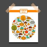 Vector cartoon hand drawn background Royalty Free Stock Image