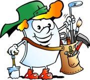 Vector Cartoon illustration of a Happy Golfer Paper Mascot Stock Image
