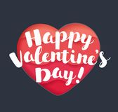 Happy Valentines Day greeting card. royalty free stock photos