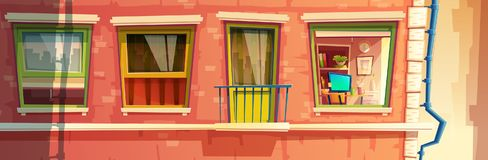 Vector illustration of house facade element Stock Photography