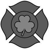 Irish Firefighter Maltese Cross Illustration. A vector cartoon illustration of a Irish Firefighter Maltese Cross Royalty Free Stock Photo