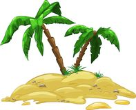 island with two palm trees Stock Image
