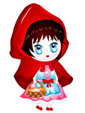Vector Cartoon Illustration Little Red Riding Hood Royalty Free Stock Image