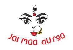 Vector Navratri Cartoon Illustration. Vector Cartoon Illustration Of Maa Durga Face Expression -Mythological Hindu goddess . Vector Illustration . Isolated On vector illustration