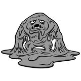 Mucus Monster Illustration. A vector cartoon illustration of a Mucus Monster concept Royalty Free Stock Photography