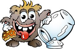 Free Vector Cartoon Illustration Of A Happy Troll Eating Cookie Stock Photography - 173118172