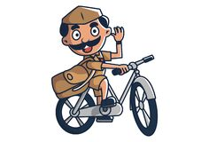 Free Vector Cartoon Illustration Of Postman Royalty Free Stock Image - 189184676