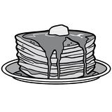 Pancake Party Illustration. A vector cartoon illustration of a Pancake Party concept Stock Photography