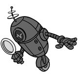 Search Engine Bot Illustration. A vector cartoon illustration of a Search Engine Bot concept Royalty Free Stock Image