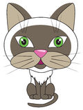Vector cartoon illustration - sitting cat Royalty Free Stock Images