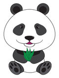 Vector cartoon illustration - sitting panda Royalty Free Stock Photography
