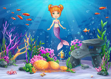 Vector cartoon illustration underwater world Royalty Free Stock Images