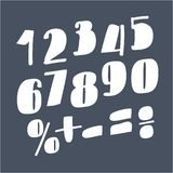 Colorful funny numbers royalty free stock images